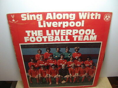 Liverpool Football Team – Sing Along with Liverpool 1972 LP PELS 530