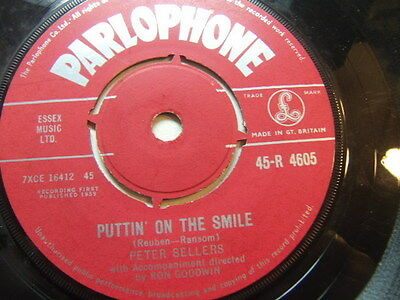 "Peter Sellers – Puttin' On the Smile 1959 7"" Parlophone R 4605"