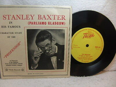 """Stanley Baxter in his famous Character Study of the Professor c1960 7"""" / EP 622"""