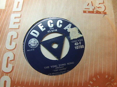 "The Goons – The Ying Tong Song 1956 7"" Decca F 10780"