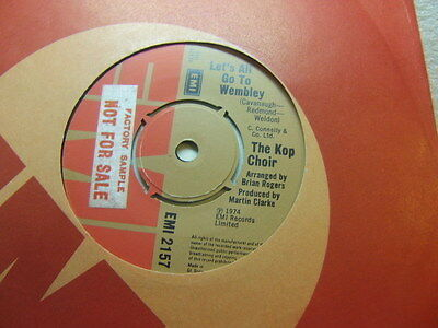 """The Kop Choir – Let's All Go To Wembley 1974 7"""" EMI 2157 liverpool fc"""