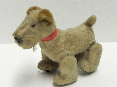 Schuco Trip Trap dog Scottish Terrier Mohair Plush Tripple Trapple pull toy 50s
