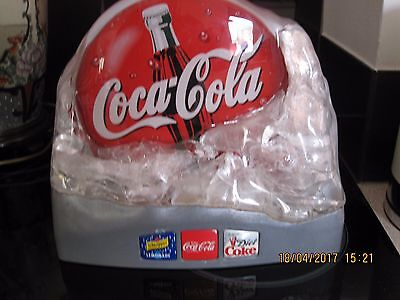 Vintage Coca Cola Store/Bar Sign ice block design 1980'S (Never Used!)