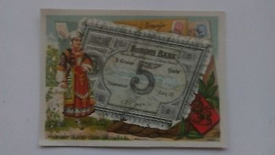 Bognard, Paris.  Circa 1900 Stamps & Banknotes Of Norway.  #3