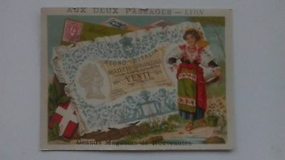 Bognard, Paris.  Circa 1900 Stamps & Banknotes Of Italy.  #1