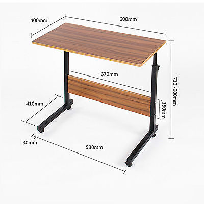 New Adjustable Removable Computer Desk Office Table Bedroom TV Dinner Table