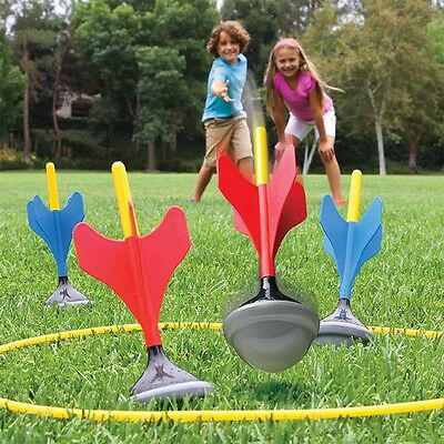 Family Lawn Darts Outdoor Garden Game Picnic Beach Play Set with Target Rings