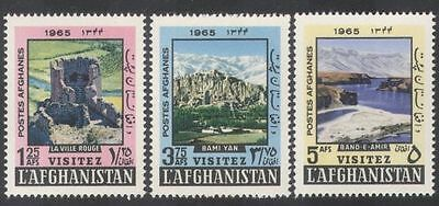 Afghanistan 1965 Tourism/Fort/Ruins/Mountains/Lake/Building 3v set (n28832)