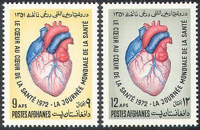 Afghanistan 1972 Medical/Health/Heart/Blood 2v set (n28171)