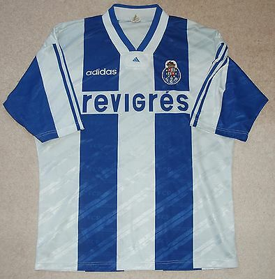 "Fc Porto - Adidas Original Mens Football Shirt - 1994-1995 Season - Size ""xl"""