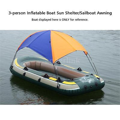 Portable Bimini Top Cover Canopy For Inflatable Kayak Canoe Boat 3-person new