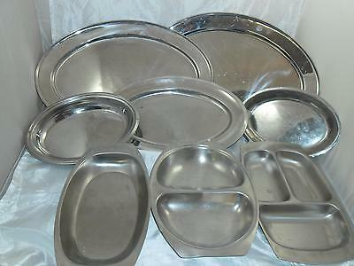 Job lot of 8 Catering trays/dishes