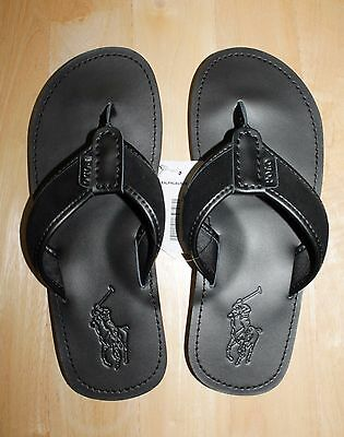 Polo Ralph Lauren Men Leather Flip-Flops size 8, 9,10 , 11 ,12 ,13 new with tags