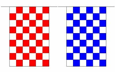 GAA Checkered County Colour Flag Bunting 10 metre - Cork Tyrone Waterford
