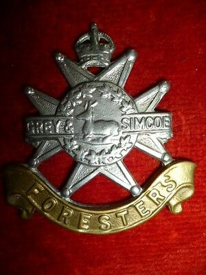 M59 - The Grey & Simcoe Foresters KC Cap Badge, WW2 Canada