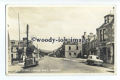 aj0136 - Hotels and John Morrison Shop on High Street , Aberlour , - postcard