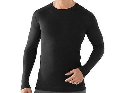 Smartwool Men's NTS Mid 250 Merino Wool Base Layer Crew Shirt in Black, Size L