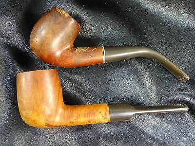 VTG- 2 Tobacco Pipes Thermofilter Briar Italy + Straight Imported Briar - ESTATE