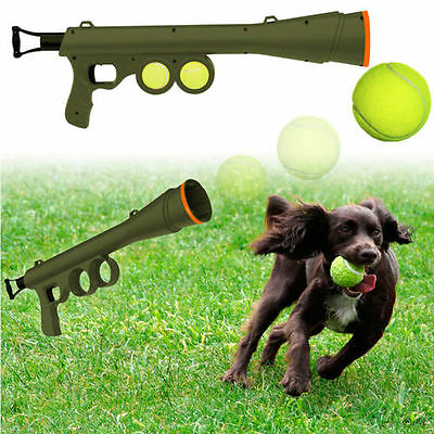 """23.5"""" Dog Ball Launcher with Tennis Balls & Carry Strap Fetch Play Pet Game"""