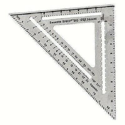"""Swanson """"Big 12"""" Speed Square Layout Tool with Blue Book T0108"""