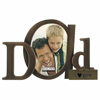 """Picture Frame for Special Moments Dad I Love You Bronze Script Metal 3.5 x 4.5"""""""