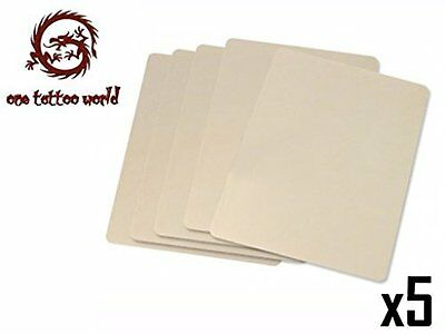 Bestselling Tattoo Practice Skin Rubber Pad - Extra Large Pack of 5 Sheets