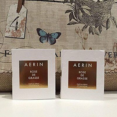 Rose De Grasse Parfum Vial Travel Mini Spray by Aerin - 2 ml Each Pack of 2