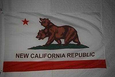 New California Republic Fallout Flag with Metal Grommets 100% Nylon 3 x 5 Feet
