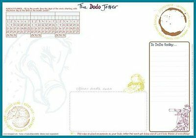 The Dodo Jotter Pad - B5 Desk Sized Jotter-Scribble-Doodle-to-do-List-Tear-off-N