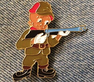 Elmer Fudd Enamel Brooch Pin~Brown~Hunting Wabbits~Looney Tunes~Warner Bros.