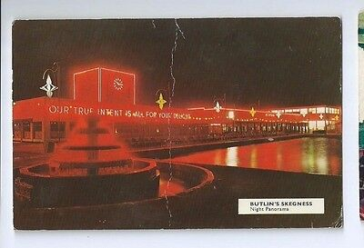 Postcard Butlins Holiday Camp Skegness Night Panorama RP