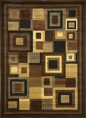 Rug Catalina 4467-469 Durable Olefin Black and Brown Polyproplene 5 by 7 Feet