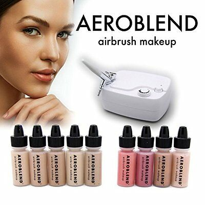 Professional Airbrush Makeup Starter Kit for Smooth Coverage - Tan Foundation