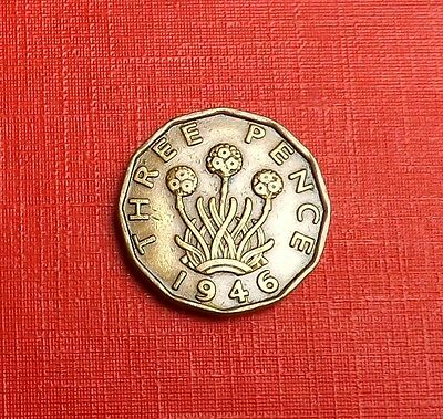 George V1 1946 Brass Threepence [Key Date]Nice Rare Coin