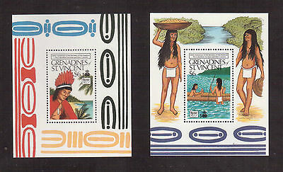 Grenadines Of St.vincent 1989 #649/50 S/s Mint Vf Nh Discovery Of America !!