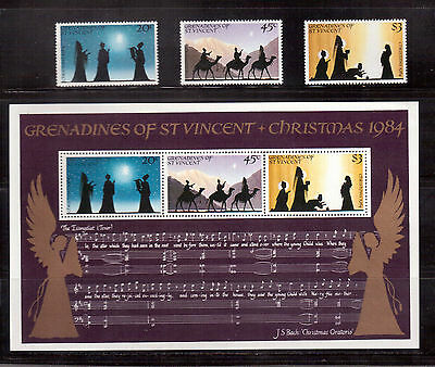 GRENADINES OF ST.VINCENT 1984 CHRISTMAS #469/71a SET + S/S MINT VF NH !!
