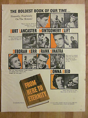 From Here to Eternity, Burt Lancaster, Frank Sinatra, Vintage Promotional Ad