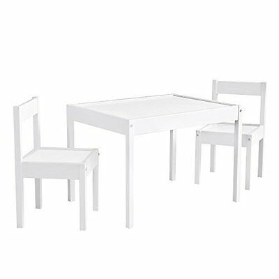 Kiddy Table & Chair Set - Kid friendly Height Stylish Sturdy Wood Construction