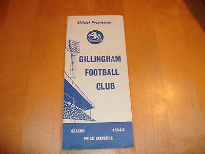 1964 - 1965 GILLINGHAM v WALSALL  # LEAGUE MATCH