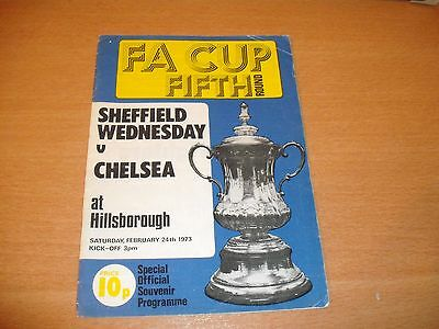 1973 SHEFFIELD WEDNESDAY v CHELSEA FA CUP 5TH RD