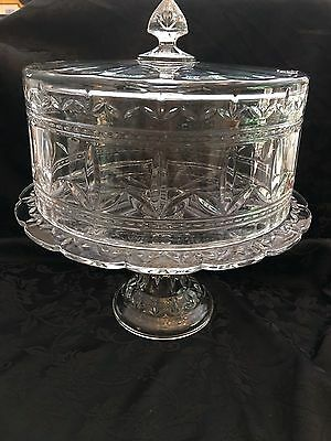 Crystal Footed Covered Cake Dish