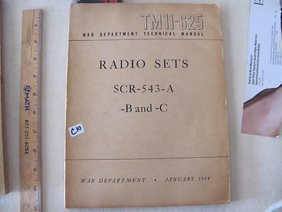 Manual for radio sets SCR-543-A -B-and C