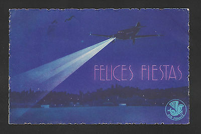 Air France Uruguay Christmas Airmail postcard 1935 airline issue