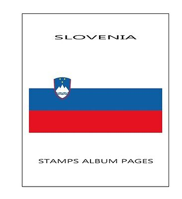 Slovenia Stamps Album Pages 2015 - Pdf File Ilustrated Pages