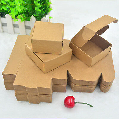 Chic Soap Box Square Soap Paper Case Folding Cardboard Package DIY Gifts 50PCS