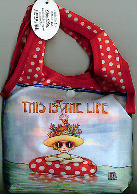 Mary Engelbreit-THIS IS THE LIFE BEACH PACKABLE TOTE BAG--NEW!