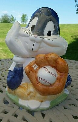 1993 Looney Tunes Cookie Jar Bugs Bunny as Baseball Player excellent