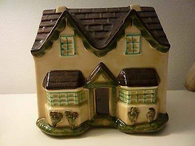 Vintage Dr Barnardo's money bank house rare item, with stopper, excellent cond..