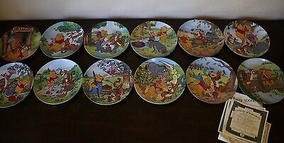 Winnie the Pooh 100 Acre Woods Bradford Exchange Plates 1-12 Collector's Series