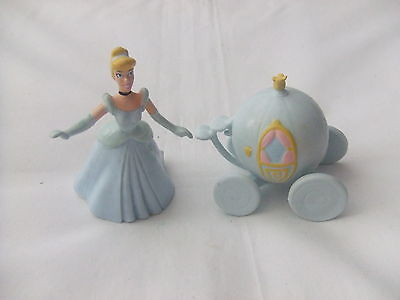 Cinderella Figure and her Carriage, Figures/Cake Toppers by Applause, Used